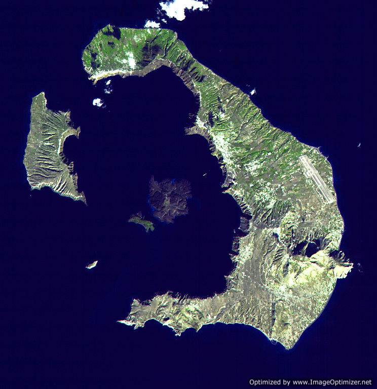 santorini satellite