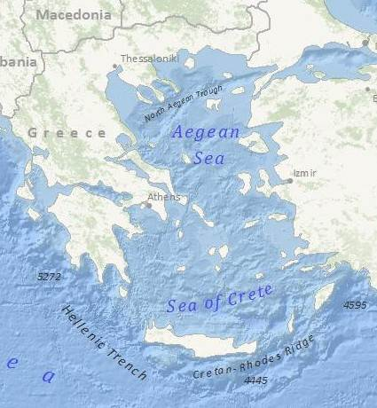 Greece subterrain map