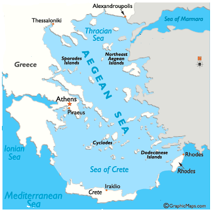 Aegean sea boundaries