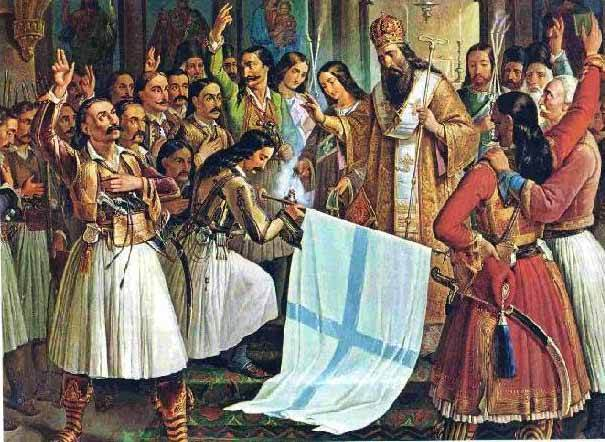 The oath in Agia Layra, painting of Theodoros Vrizakis