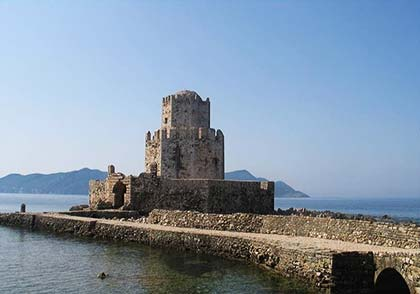 The port of Methoni