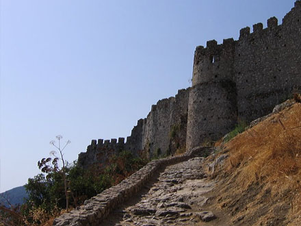 the walls of mystras
