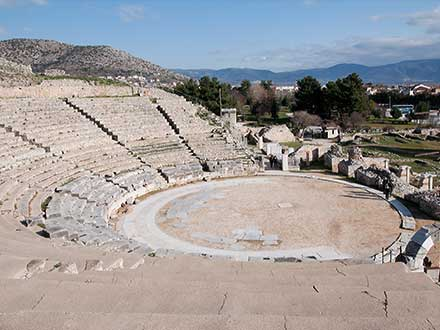 The ancient theater in Philippi