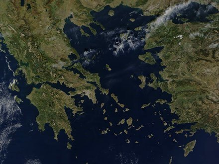 The Greek peninsula