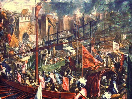 The siege of Constantinopole