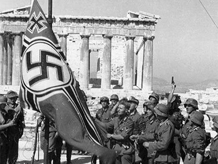 Nazi flag on Acropolis