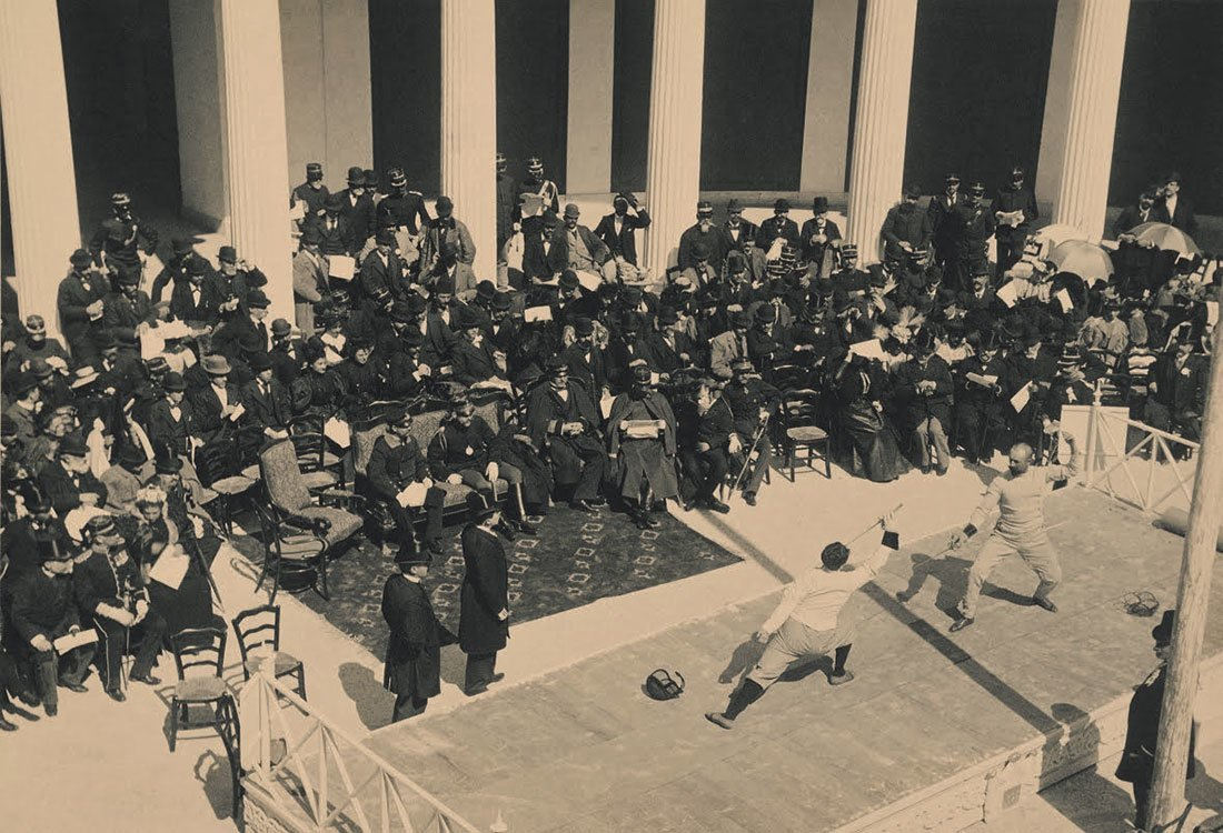 "Exhibition ""OLYMPICS 1896"" at the Athens Intl Airport"